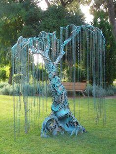 """steampunktendencies: """"Metal Tree """""""