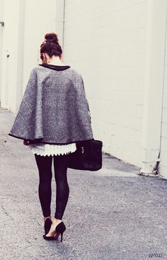 DIY: Audrey inspired wrap cape