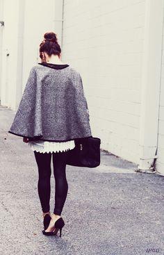 DIY: Audrey inspired wrap cape