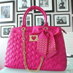 Betsy johnson hot pink purse