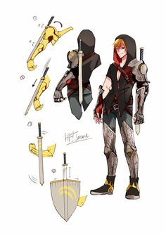 Somebody's cool RWBY OC, credit to whoever this belongs to b/c it's badass!