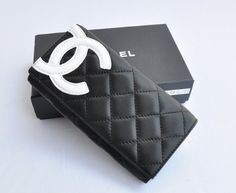 db863 Chanel Handbags 41bGY4goaVL New Designer Inspired Black Quilted Double C Wallet