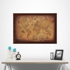 World Map Poster - Golden Aged - Customizable, personalizable, available in multiple sizes!