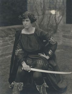Cornelia Otis Skinner dressed for a May Day play in the early 1920s.