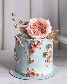 Elegant Birthday Cakes, Pretty Wedding Cakes, Beautiful Birthday Cakes, Gorgeous Cakes, Wedding Cake Designs, Pretty Cakes, Cute Cakes, Amazing Cakes, Designer Birthday Cakes
