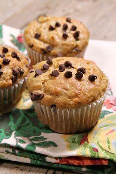 Peanut Butter Banana Muffins Recipe - RecipeGirl.com
