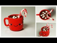 Kawaii Hot Chocolate Polymer Clay Tutorial