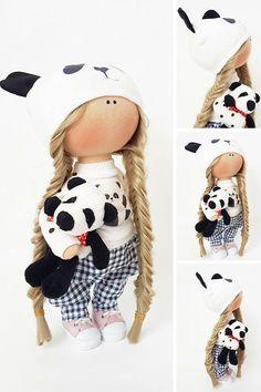 Fabric doll Puppen Interior doll Textile doll Tilda doll