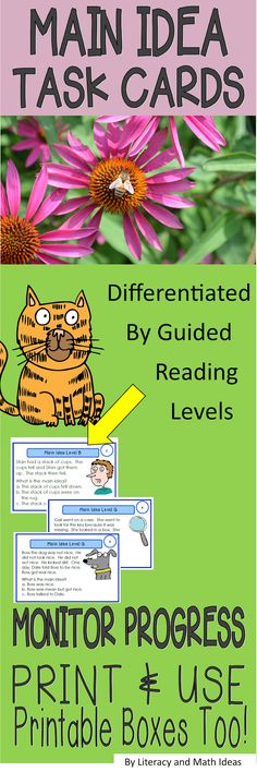 Task cards organized by guided reading levels~Save hours of planning time, differentiate instruction, easily monitor student progress, address individual student needs. This is great for Daily 5, IEP's, RTI, guided reading, and more. Printable storage boxes are included.$