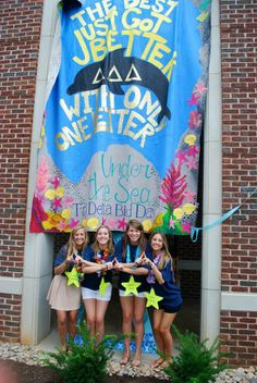 The Best Just Got Better with Only One Letter #DeltaDeltaDelta #TriDelta #BidDay #banner #sorority #Tennessee
