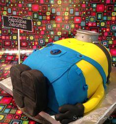 Minion (despicable me ) fondant cake Minions Despicable Me, Inner Child, Fondant, Children, Kids, Party Ideas, Cakes, Young Children, Young Children