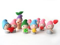 Adorable Polymer Clay Figure - Gnome / Elf / Dwarf / Fairy (8.00 USD) by JujubisWorkshop
