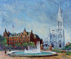 Saint Louis University and College Church by Irek Szelag