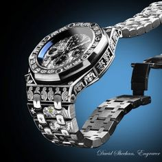 Hand Engraved Audemars Piguet - DAVID SHEEHAN ~ ENGRAVERDAVID SHEEHAN ~ ENGRAVER Watch Engraving, Hand Engraving, Burberry Men, Gucci Men, Audemars Piguet Rose Gold, Sport Watches, Watches For Men, Tom Ford Men, Hugo Boss Man