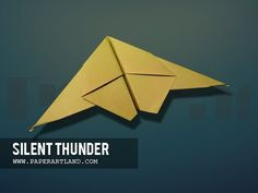 How to make a Paper Plane that Glides- Easy| Silent Thunder ( Tri Dang ) - YouTube