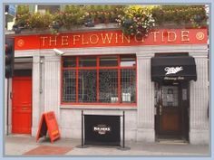 The Flowing Tide, one of the oldest pubs in Dublin, across the street from the Abbey Theatre