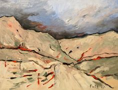 Tiroler Berghänge II / Öl auf Leinwand / 70 x 90 cm / 2016 /  Detlev Foth
