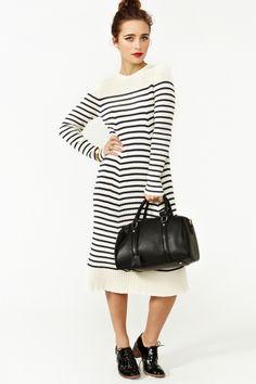 Vintage Jean Paul Gaultier striped dress