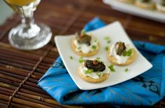 A simple and fast Asian appetizer using canned smoked oysters.
