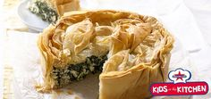 cheese-and-greens-filo-pie