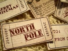 Printable vintage Christmas tickets... would be fun for Polar Express day