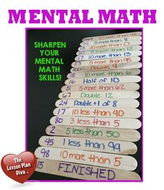 Such an easy-to-make and no-cost math center idea. Easy to differentiate and can be used for many math skills and grade levels. Perfect for building mental math skills! Maths Guidés, Math Classroom, Teaching Math, Fun Math Games, Math Activities, Mental Maths Games, Mental Math Strategies, Math Stations, Math Centers