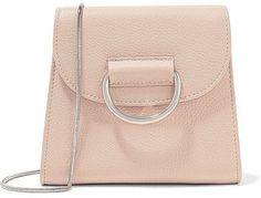 Little Liffner - D Tiny Box Textured-leather Shoulder Bag - Beige