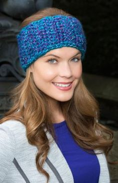 Crochet Headband Blissful Ear Warmer Free Crochet Pattern from Red Heart Yarns - Crochet Ear Warmer Pattern, Crochet Headband Pattern, Knitted Headband, Crochet Headbands, Crochet Ear Warmers, Crochet Scarves, Knit Or Crochet, Crochet Crafts, Easy Crochet