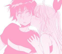 nisekoi; chitoge; kirisaki; art; cute; love; kiss