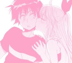 nisekoi; chitoge; kirisaki; art; cute; love; kiss