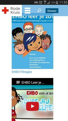 Ehbo rode kruis lesmateriaal basisonderwijs Afzender: rode kruis Boodschap: kinderen via spelletjes en opdrachten uitleggen wat het rode kruis doet.