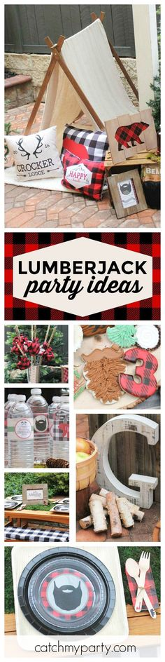 Check out this awesome Lumberjack Birthday party! The cookies are so much fun!! See more party ideas and share yours at http://CatchMyParty.com