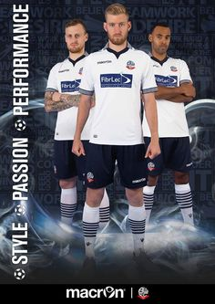 REVEALED: Bolton Wanderers and Macron are delighted to unveil our new home kit ahead of the 2014/15 campaign.  More here: http://bit.ly/1qPe6mF