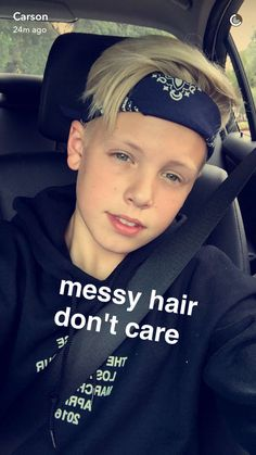 Carson Lueders' snapchat