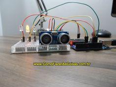 Arduino com sensor de obstáculos ultrasônico HC-SRO4 - http://www.comofazerascoisas.com.br/arduino-com-sensor-de-obstaculos-ultrasonico-HC-SRO4.html