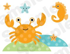 Sea Life Nursery Childrens Wall Border Stickers or 8x10 Wall Prints.