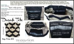This fair trade, ethically made, black and cream, geometric patterned tote is empowering women out of poverty in Bangladesh. Every purchase helps to provide a sustainable and dignified income. Fair trade changes the world! Fair Trade, Women Empowerment, Gym Bag, Toms, Cream, Black, Custard, Black People, Fair Trade Fashion