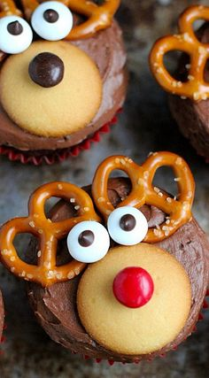 Reindeer cupcakes #festivefavorites