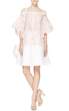 BTE Washed Silk Top With Ruffle Sleeves by Rosie Assoulin Now Available on Moda Operandi