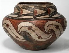 . Zia Polychrome jar, ca. 1910 Zia, NM Exchange with Museum of New Mexico