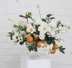 white floral centerpieces wedding flowers - Page 70 of 101 - Wedding Flowers & Bouquet Ideas White Floral Arrangements, Floral Centerpieces, Wedding Centerpieces, Centrepieces, Summer Flower Arrangements, Deco Floral, Arte Floral, Floral Design, Fresh Flowers