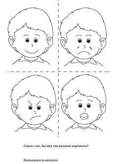 Emotions Preschool, Emotions Activities, Preschool Writing, Preschool Worksheets, Preschool Activities, Oral Motor Activities, English Activities For Kids, Toddler Learning Activities, Teaching Kids