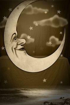 vintage moon backdrop