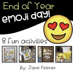 Plan an emoji day as a fun day of learning at the end of the year. Eight different activities to keep your students learning during the last few days of school.