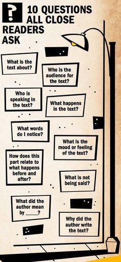 questions that close readers should ask