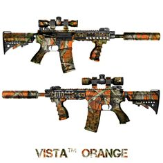 Orange Camo AR-15 Rifles
