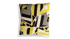 Broken Tile Sulphur Cushion & Pad 50 x Modern Cushions, Geometric Cushions, Luxury Cushions, Geometric Patterns, Cushion Inspiration, Knitting Club, Cushion Pads, Throw Pillows, Pure Products