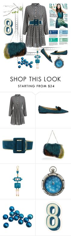 """DRESS"" by menina-ana ❤ liked on Polyvore featuring Jimmy Choo, Oscar de la Renta, River Island, Garance Doré, Authentic Models and Anya Hindmarch"