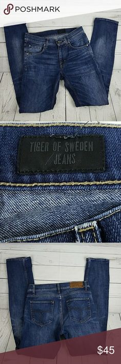 Tiger Of Sweden Jean's Skinny Size 28/32 Good condition. Gently Worn  Inseam 32 Rise 9 Waist 14 1/2 Tiger of Sweden Jeans Skinny