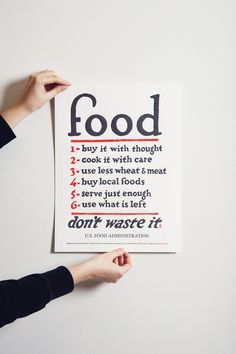 Holstee Food Rules Poster | picklesnhoney.com